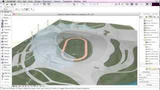 getlinkyoutube.com-Classics modeled with ArchiCAD - Behnisch & Partner - Munich Olympic Stadium