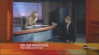 getlinkyoutube.com-Weatherman proposes to news anchor... Live on the air!