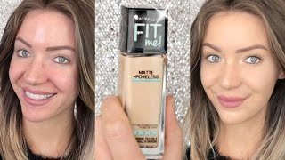 getlinkyoutube.com-First Impressions | Maybelline FIT ME! Matte and Poreless Foundation | Stephanie Lange