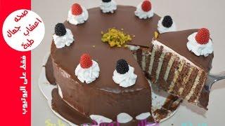حلوى بدون فرن في خمس دقائق روعة في المذاق حلويات سهلة وسريعة كيكة البسكويت