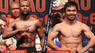 getlinkyoutube.com-Floyd Mayweather vs. Manny Pacquiao full video- COMPLETE weigh in & Face Off video
