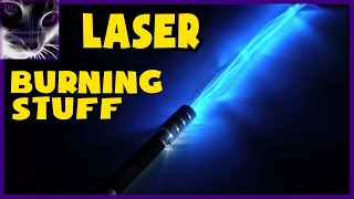 getlinkyoutube.com-Real Life LIGHTSABER Burning through stuff