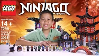 getlinkyoutube.com-TEMPLE OF AIRJITZU - LEGO NINJAGO Set 70751 - Time-lapse Build, Unboxing & Review!