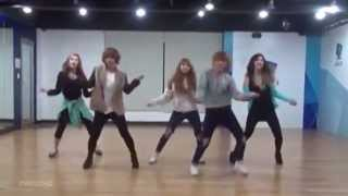 getlinkyoutube.com-4minute 'What's Your Name?' mirrored Dance Practice.