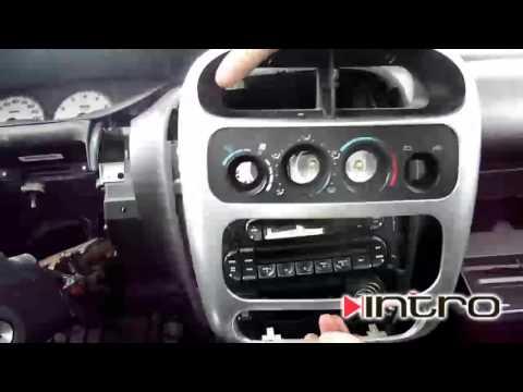 Как снять магнитолу Dodge Neon