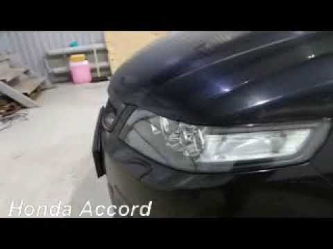 Замена линз и восстановление фар на Honda Accord