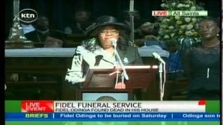 getlinkyoutube.com-Ida Odinga emotionally eulogizes his son Fidel Odinga