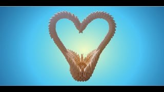getlinkyoutube.com-3D Origami Heart Basket Tutorial