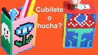 """getlinkyoutube.com-Cómo hacer con Hama una hucha y un cubilete o """"lapizero"""""""