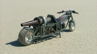 getlinkyoutube.com-GRV-2 DIY Turbine Jet Bike - Trial Runs - 52.1 MPH