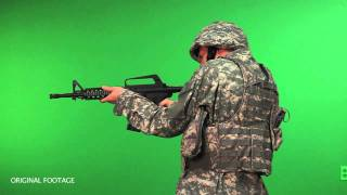 getlinkyoutube.com-Modern Warfare - Battlefield - M4 - Bad Compositing and Gun Acting