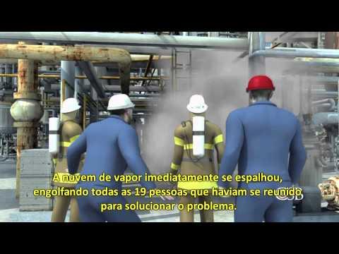 Incêndio em Refinaria de Petróleo nos EUA, 2012.