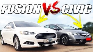 getlinkyoutube.com-Corrida de Carros: Honda Civic X Ford Fusion