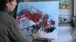getlinkyoutube.com-Instructional. Learn To Paint Abstract Painting Intuitive by Jan van Oort