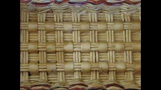 getlinkyoutube.com-Weaving a rectangular bottom of a basket from newspapers