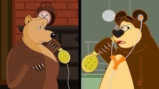 getlinkyoutube.com-Masha and the Bear Five Little Monkeys Jumping on the Bed - Nursery Rhymes