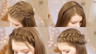 getlinkyoutube.com-5 Headband Braids | Back to School Hairstyles