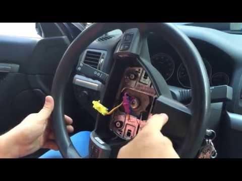 Как снять руль на Opel Vectra C, Astra H, Zafira B. How to remove the steering wheel on Opel