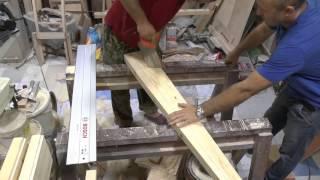 getlinkyoutube.com-Винт из дерева , для ветряка . Blades are made of wood for wind turbines ( часть 2 )