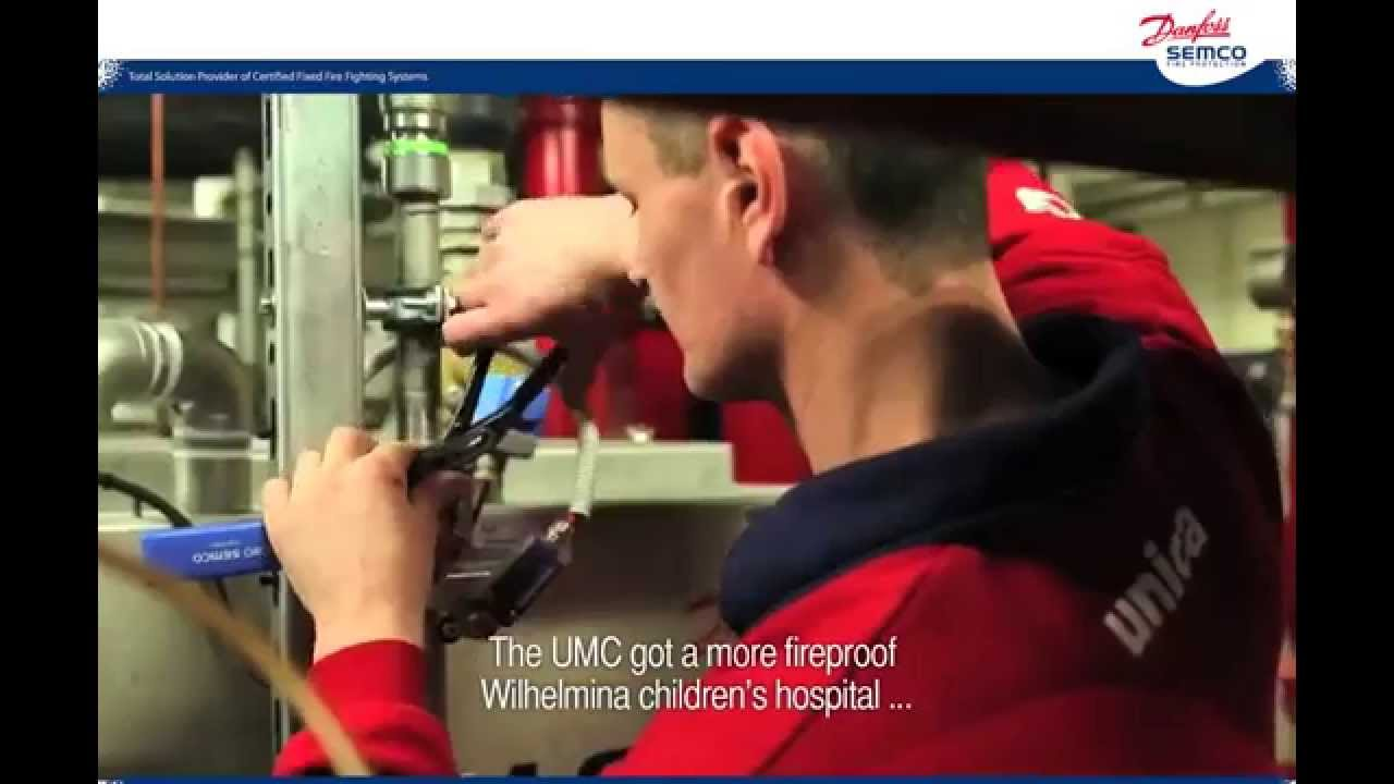 Fire Protection for Wilhelmina Children's Hospital, The Netherlands