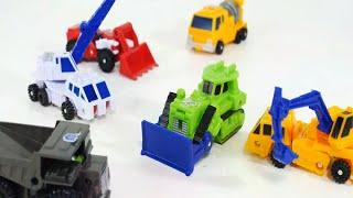 getlinkyoutube.com-6대 중장비 변신 자동차 합체 로봇  [대문밖장난감]