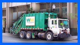getlinkyoutube.com-Garbage Truck Videos for Children | Machines for Kids