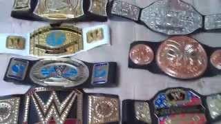 getlinkyoutube.com-My WWE Mattel Belt Collection