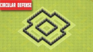 Clash of Clans Town Hall 4 Defense BEST CoC TH4 Trophy / War Base Layout Defense Strategy