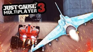 getlinkyoutube.com-JUST CAUSE 3 MULTIPLAYER - FREE FOR ALL TUNNEL RACING!