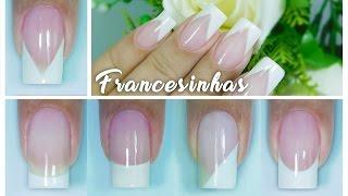 getlinkyoutube.com-5 Modelos de Francesinhas e 5 Maneiras Diferentes de Fazer | francesa | French nail | Aline Makelyne