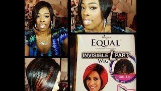 getlinkyoutube.com-Freetress Equal Invisible L Part in Black Jack