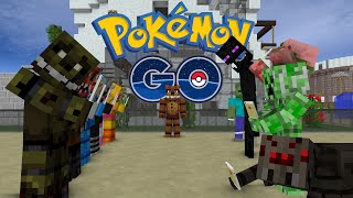 getlinkyoutube.com-FNAF vs Mobs: Pokemon GO Challenge - Monster School (Five Nights At Freddy's)