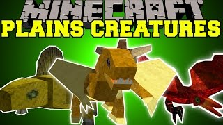 getlinkyoutube.com-Minecraft: PLAINS CREATURES (ITEM THIEVES, GLIDING PETS, & ANNOYING BIRDS!) Mod Showcase