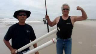 getlinkyoutube.com-MASTER BAITER TATER LAUNCHER surf fishing bait launcher