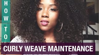 getlinkyoutube.com-CURLY HAIR SOLUTIONS | HOW TO MAINTAIN CURLY WEAVE