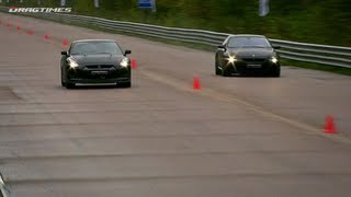 getlinkyoutube.com-Nissan GT-R vs BMW M6 ASR; Audi RS6 Evotech vs RS6 Sportec SPR 800; Audi RS6 MC Chip vs Evotech;