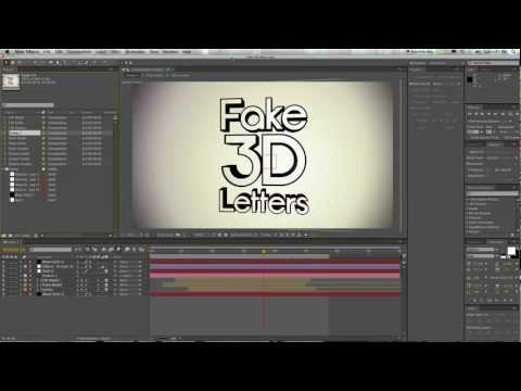 Extrude 3d Letters &#8211; Adobe After Effects Tutorial