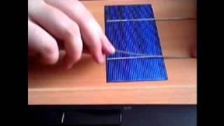 Solar Hücreleri lehimleme ve birleştirme