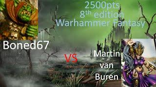 getlinkyoutube.com-2 Dark Elves vs Orcs and Goblins Warhammer Fantasy Battles