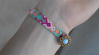 getlinkyoutube.com-Some tips for friendship bracelets. How to start and end the bracelet.