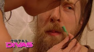 getlinkyoutube.com-Brie Bella tries to lighten Daniel Bryan's beard: Total Divas, May 25, 2014