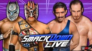 getlinkyoutube.com-Kalisto & Sin Cara vs Aiden English & Simon Gotch (Lucha Dragons vs The Vaudevillains) | WWE 2K17