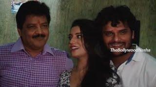 getlinkyoutube.com-Hogi Pyar Ki Jeet - Khesari Laal Yadav - Udit Narayan - Song Recording & Muhurat Bhojpuri Film P1