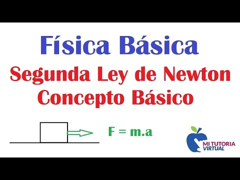 Segunda Ley de Newton - Concepto Basico - Video 106