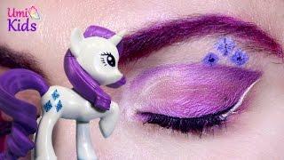 getlinkyoutube.com-My Little Pony Rarity Göz Makyajı - UmiKids Makyaj Videoları