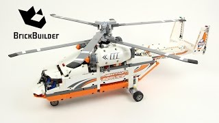 getlinkyoutube.com-Lego Technic 42052 Heavy Lift Helicopter - Lego Speed build