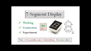 Understanding the 7-segment display with experiment Part (1)