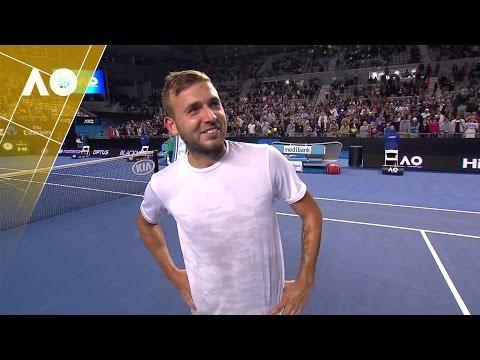 Dan Evans on court interview (3R) | Australian Open 2017