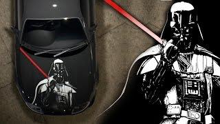 getlinkyoutube.com-Need for Speed 2015 Speed painting Star Wars Darth Vader vinyl