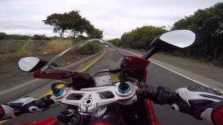 getlinkyoutube.com-Ducati Panigale 1299S  - first ride home